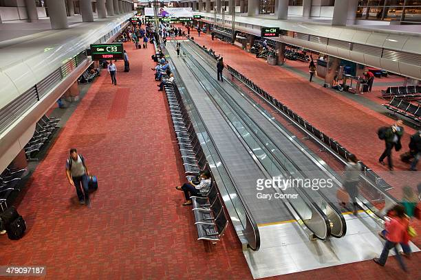 airport interior - denver international airport stock pictures, royalty-free photos & images