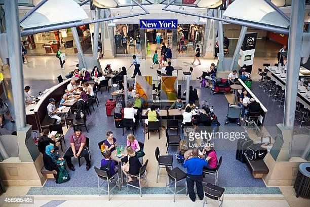 Flughafen New York City Menschen #warten 2 XXL
