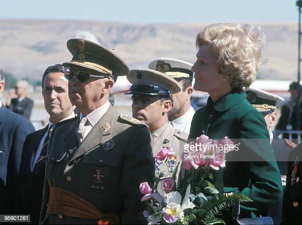 Airport of Barajas Madrid Francisco Franco with Pat Nixon wife of Richard Nixon