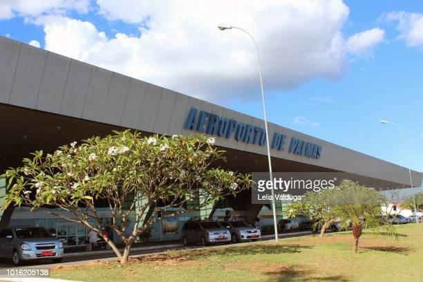airport of palmas - tocantins - brazilian transportation infrastructure - palmas tocantins imagens e fotografias de stock