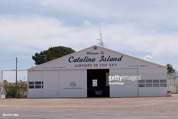 Airport on Santa Catalina Island a rocky island off the coast of California
