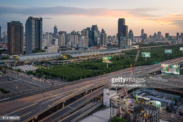 airport rail link in bangkok city of thailand - delhi stock pictures, royalty-free photos & images