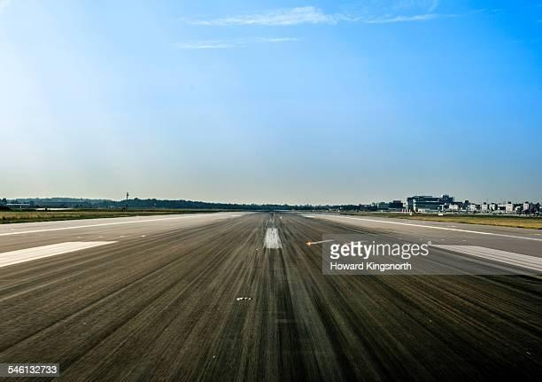 Airport runway POV