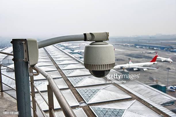 Câmaras de segurança do aeroporto