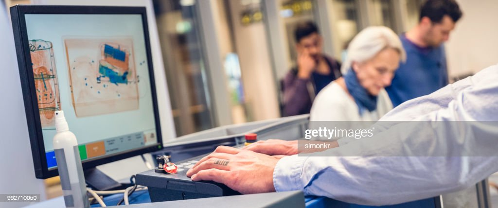 Airport security check : Stock Photo
