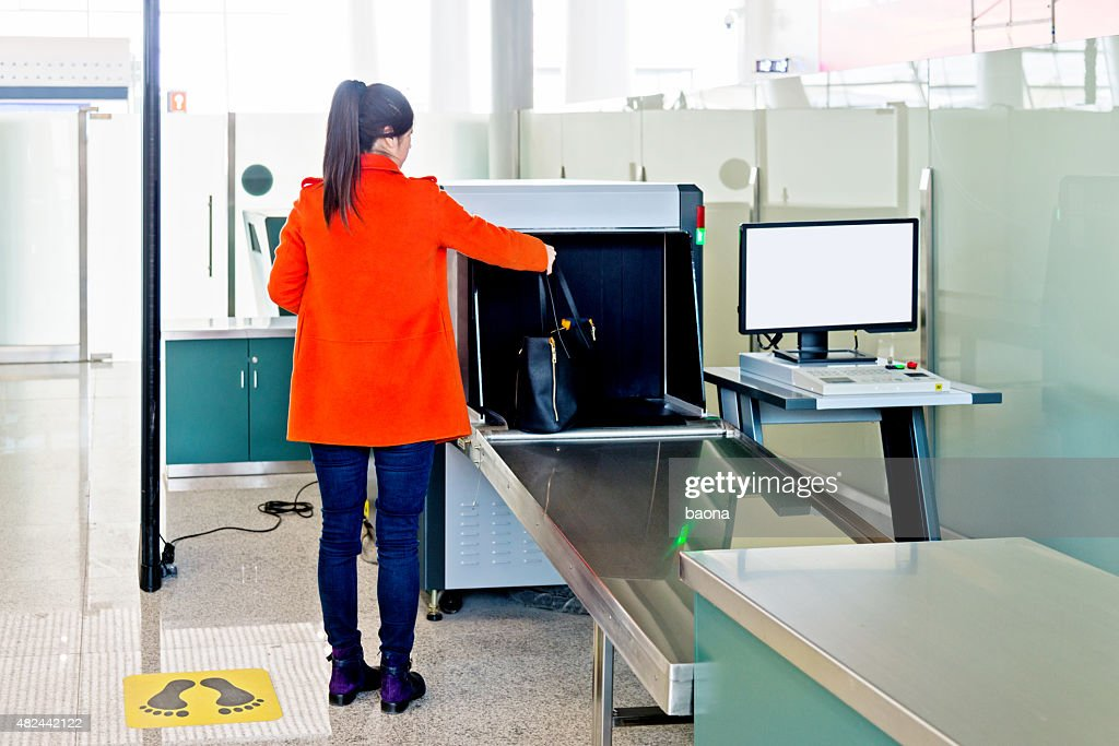 airport security checkpoint : Stock Photo