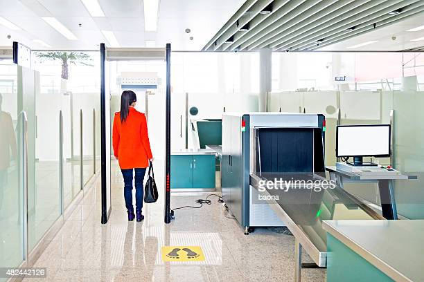 airport security checkpoint - security check stock photos and pictures