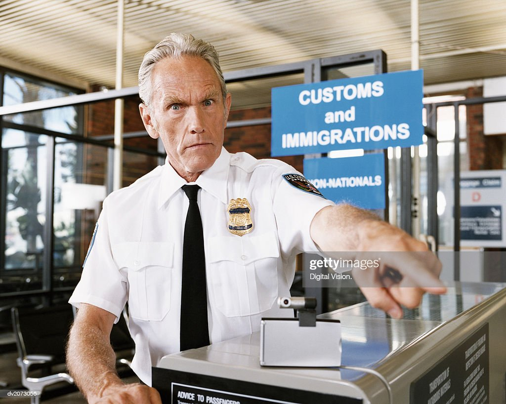 Airport Security Officer : Stock Photo