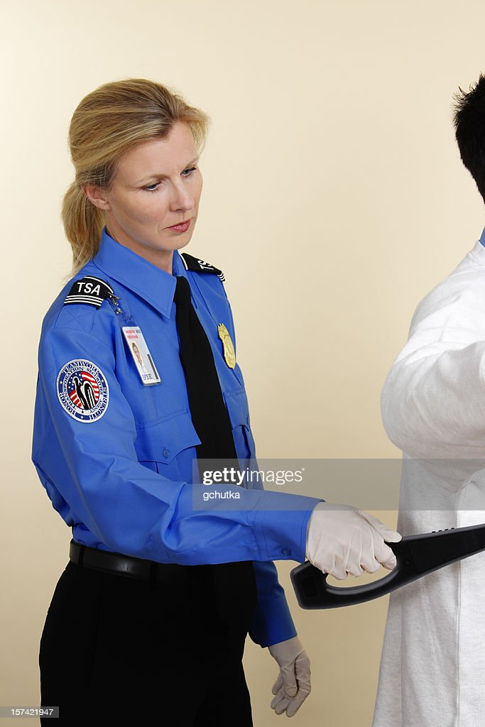 Airport Security Search : Stock Photo