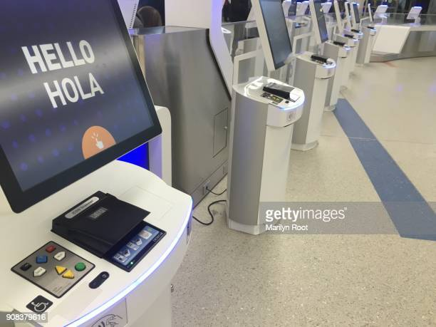 Self Service Check In Stock Photos And Pictures Getty Images