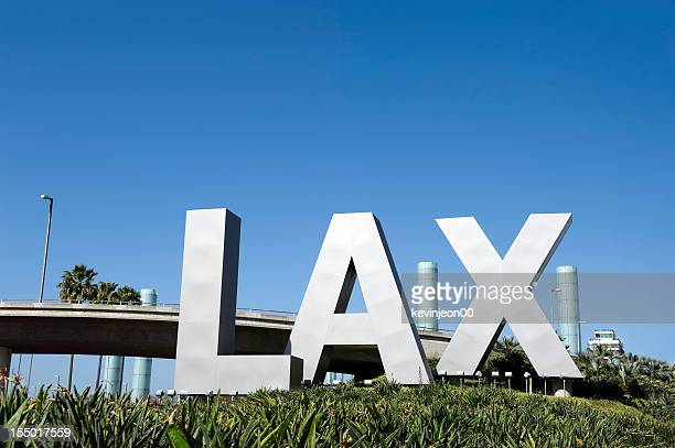 lax airport sign - lax airport stock pictures, royalty-free photos & images