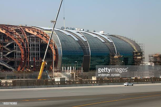 Airport terminal under construction at Dubai International
