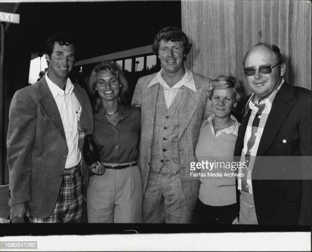 Airport Three US Golfer arrive to fly in the Australian Open Hubert Green wife Karen Audy Bean Karen amp Miller Barber November 14 1977