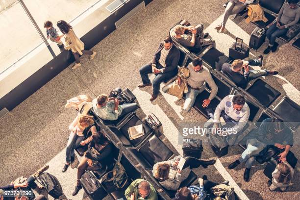 Airport waiting room from above