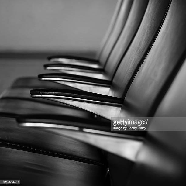 Airport waiting room seats