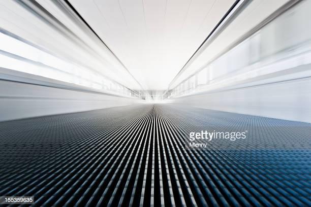 Airport Walkway Moving Stairway