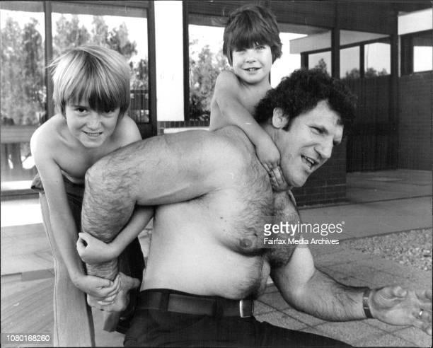 World heavyweight Wrestling Champion. Bruno Sammartino arrival to defend his title in Australia.Jason Bellamy of Marayong & Jason Williams of...