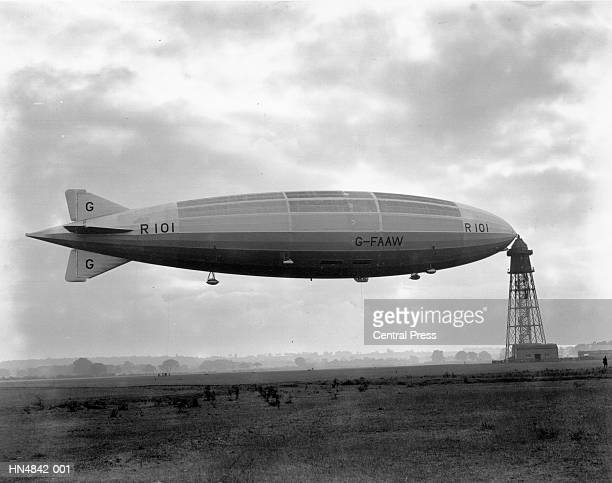 airship r 101 - 1920 1929 stock pictures, royalty-free photos & images