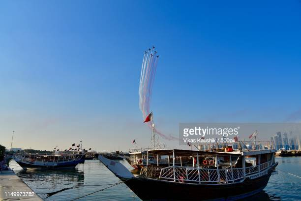 airshow on the corniche - national holiday stock pictures, royalty-free photos & images