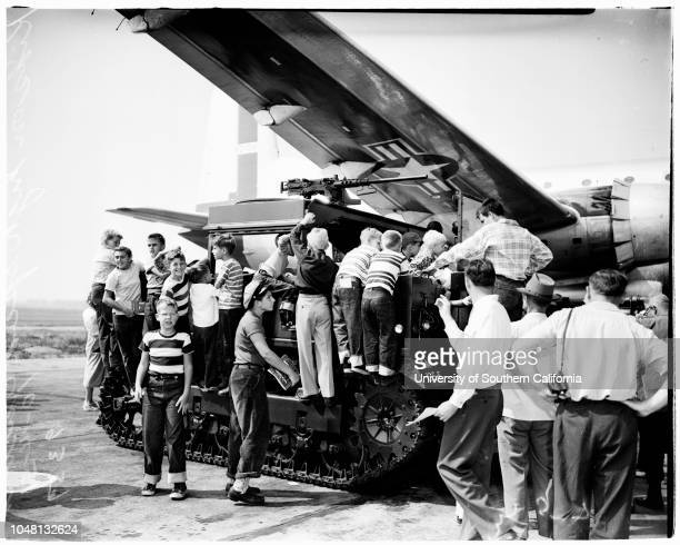 Airshow[Los Angeles] International Airpport 14 October 1951 Jackie Thurlo Official Hostess for the Air FairField Artillery Unit from Fort Lewis...