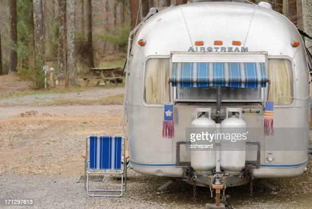 Airstream camper in Campingplatz