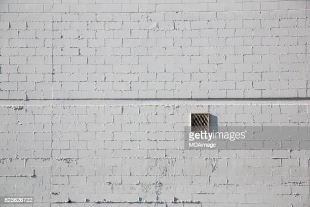 A airway is in the white brick wall