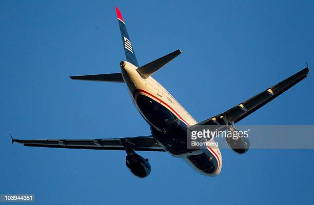 Airways Airbus A319 jet takes off at Ronald Reagan National Airport in Arlington Virginia US on Thursday Sept 9 2010 Boeing Co the world's...