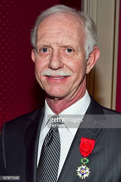 Airways Capt Chesley 'Sully' Sullenberger receives the National Order of the Legion of Honour Officier Award at the French Ambassador's Residence on...