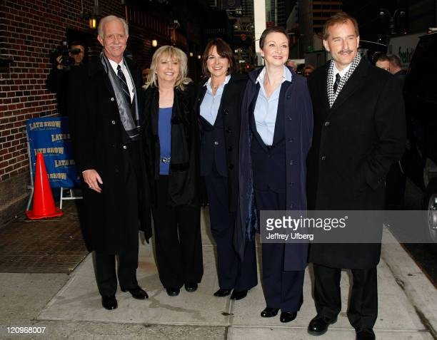 US Airways Flight 1549 crew Captain Chesley Sully Sullenberger Flight Attendants Sheila Dail Doreen Welsh Donna Dent and First Officer Jeffrey Skiles...