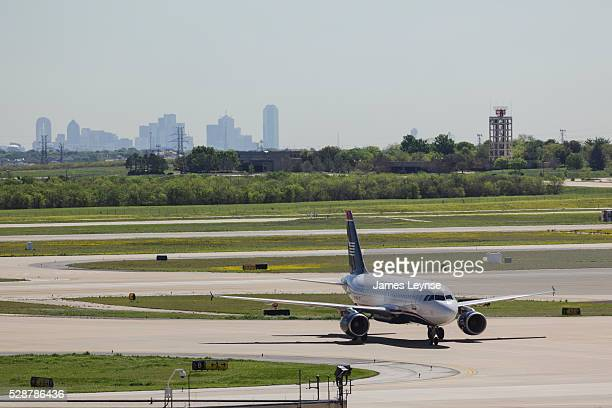 Airways jet sits on the tarmac at the Dallas Fort Worth International Airport