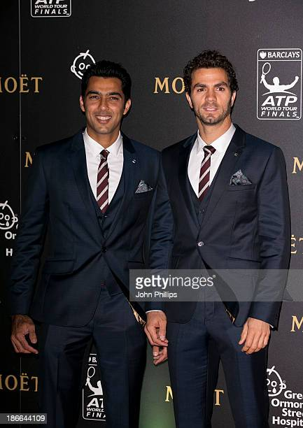 AisamulHaq Qureshi and JeanJulien Rojer attend the ATP World Tour Finals gala dinner at the Natural History Museum at O2 Arena on November 2 2013 in...