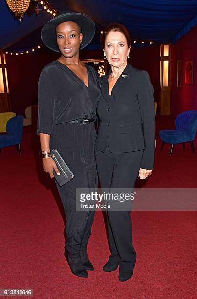 Aisata Blackman and Daniela Ziegler attend the Deutscher Musical Theater Preis 2016 on October 11 2016 in Berlin Germany