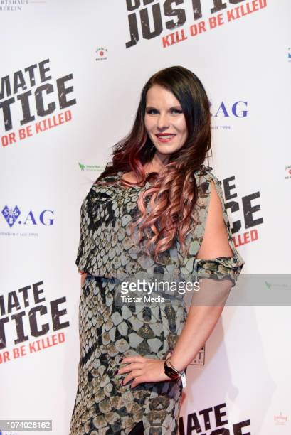 Aische Pervers during the 'Ultimate Justice' premiere at Kino Alexa on December 14 2018 in Berlin Germany