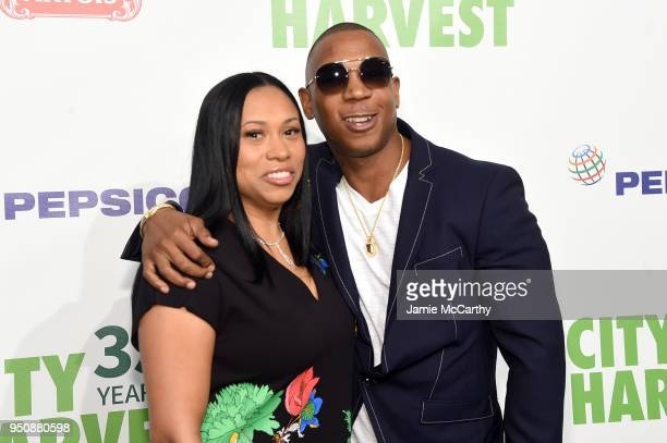 Aisha Atkins and Ja Rule attend City Harvest's 35th Anniversary Gala at Cipriani 42nd Street on April 24 2018 in New York City