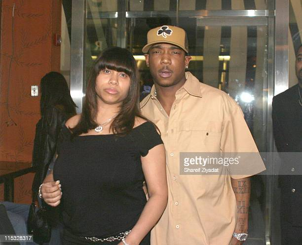 Aisha Atkins and Ja Rule during Ja Rule's 28th Birthday Party at LQ in New York City New York United States