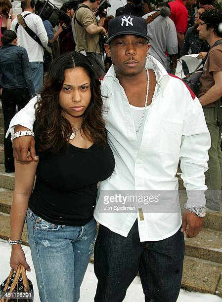 Aisha Atkins and Ja Rule during The Day After Tomorrow New York Premiere Arrivals at American Museum of Natural History in New York City New York...