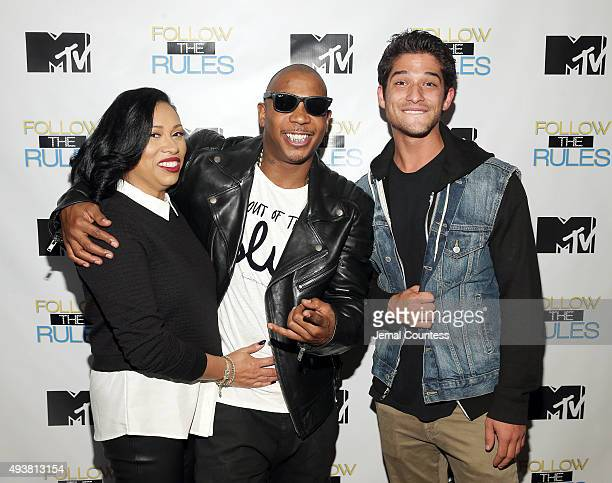 Aisha Atkins rapper Ja Rule and actor Tyler Posey attend the MTV And Ja Rule Follow The Rules Premiere Party at Catch on October 21 2015 in New York...