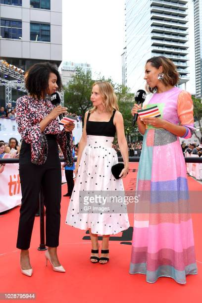 Aisha Brown Amy Ryan and Amanda Brugel attend the 'Beautiful Boy' premiere during 2018 Toronto International Film Festival at Roy Thomson Hall on...