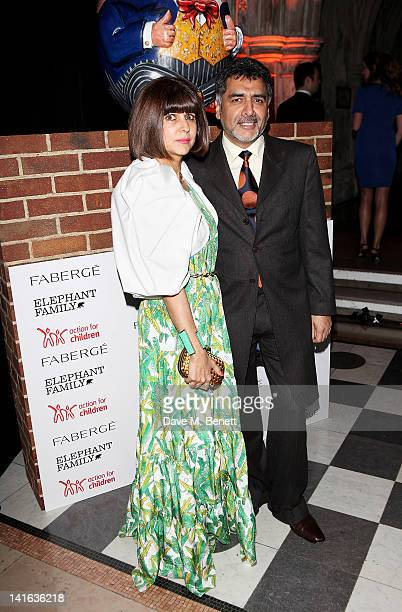 Aisha Caan and James Caan attend The Faberge Big Egg Hunt Grand Auction at the Royal Courts of Justice Strand on March 20 2012 in London England