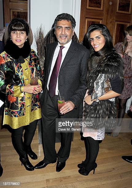 Aisha Caan James Caan and daughter Hannah Caan attend the Faberge Big Egg Hunt Champagne Countdown party at Quintessentially on January 18 2012 in...
