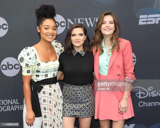 Aisha Dee Katie Stevens and Meghann Fahy attend the 2019 ABC Walt Disney Television Upfront at Tavern on the Green on May 14 2019 in New York City