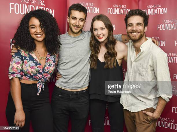 Aisha Dee Nick Antosca Amy Forsyth and Jeff Ward pose for portrait at SAGAFTRA Foundation Conversations 'Channel Zero NoEnd House' at SAGAFTRA...