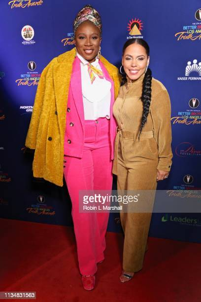 Aisha Hinds and Amirah Vann attend the 5th Annual Truth Awards at Taglyan Cultural Complex on March 09 2019 in Hollywood California