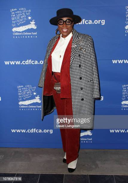 Aisha Hinds attends the Children's Defense Fund California's 28th Annual Beat The Odds Awards at the Skirball Cultural Center on December 06 2018 in...