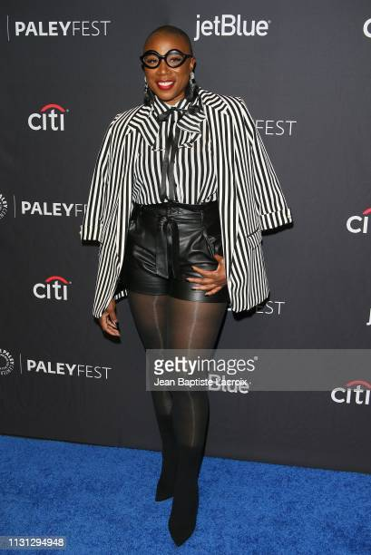 Aisha Hinds attends the Paley Center For Media's 2019 PaleyFest LA 911 held at the Dolby Theater on March 17 2019 in Los Angeles California
