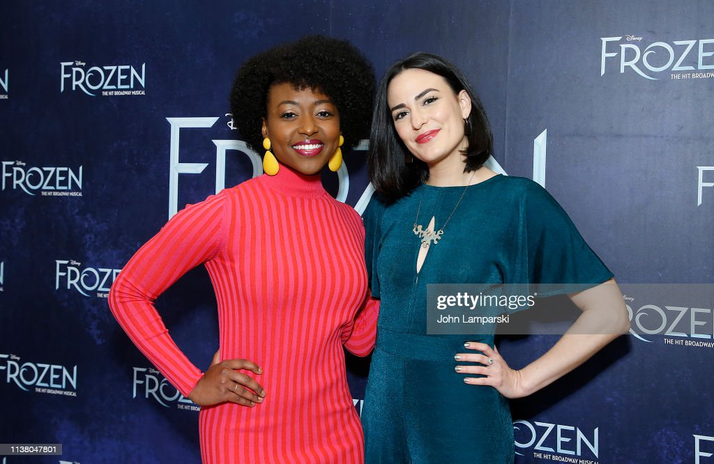 "NY: Cast Of ""Frozen"" Celebrate One Year On Broadway"