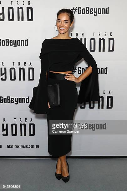 Aisha Jade arrives ahead of the Star Trek Beyond Australian Premiere on July 7 2016 in Sydney Australia