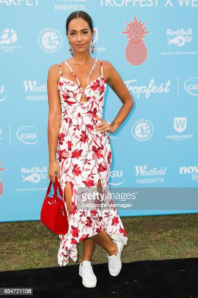 Aisha Jade arrives at Tropfest on February 11 2017 in Sydney Australia