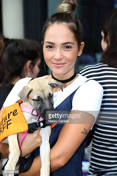 Aisha Jade attends a Dog Adoption Event hosted by the Monmouth County SPCA and Animal Lighthouse Rescue at Dylan's Candy Bar on May 14 2016 in New...