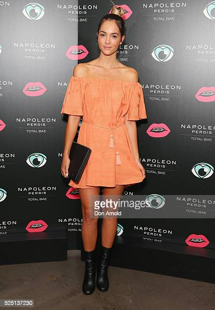 Aisha Jade attends the launch of 'Total Bae' for Napoleon Perdis on April 28 2016 in Sydney Australia